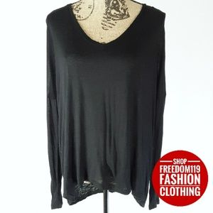 Madewell   Long Sleeve V Neck Top (L)